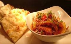 A la Carte House Spice Chicken with naan bread