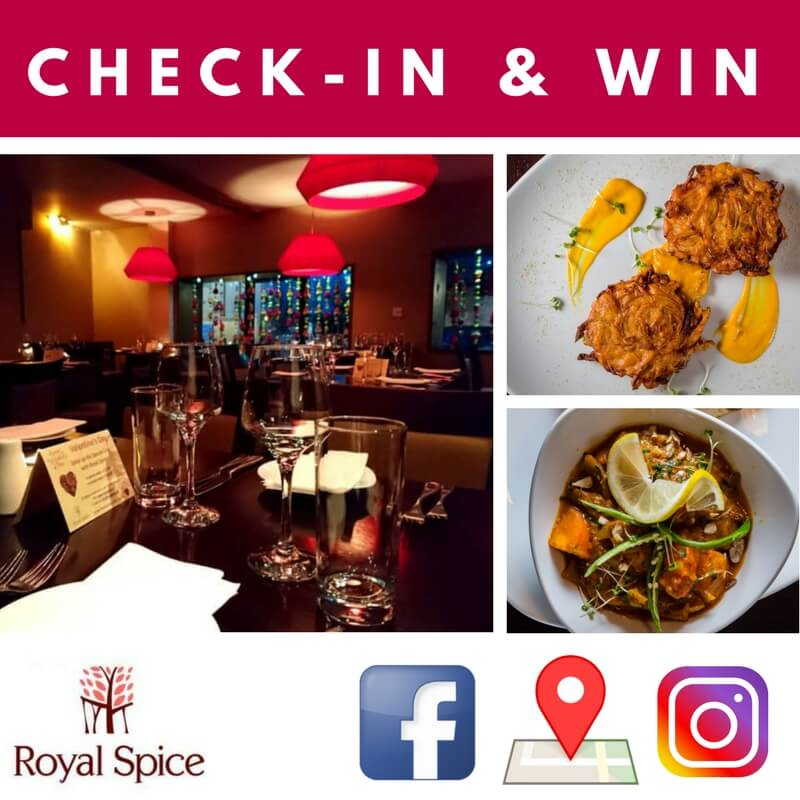 Check-In & Win at Royal Spice